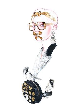 Watercolour Fashion Artwork For Gucci