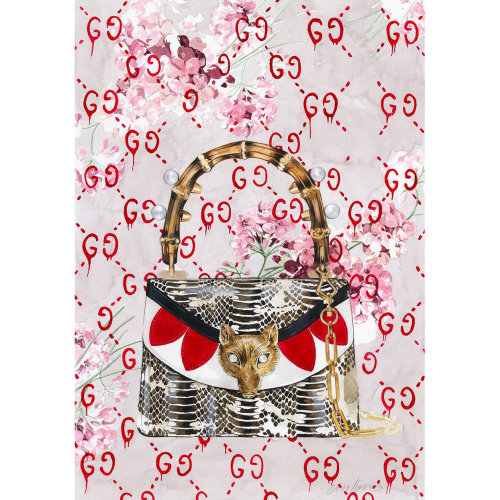 Textile Design For Gucci Handbag