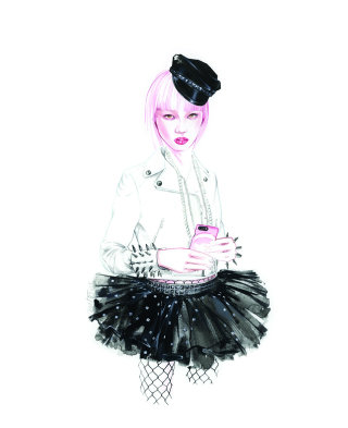 Fashion Lady Sketch For Moschino