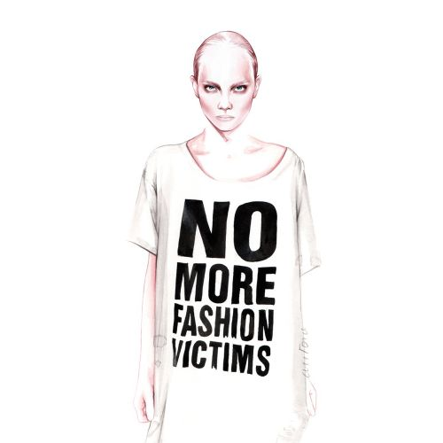 No more fashion victims art by Antonio Soares