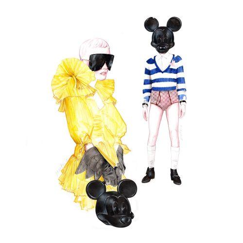 Fashion illustration for Gucci