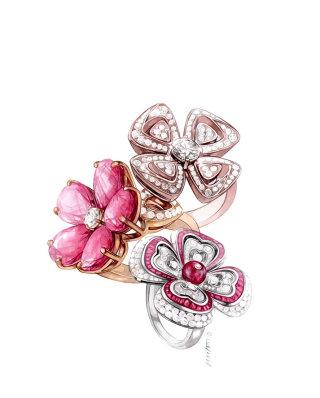 Artwork of beautiful rings