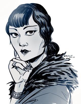 Portrait illustration of a lady