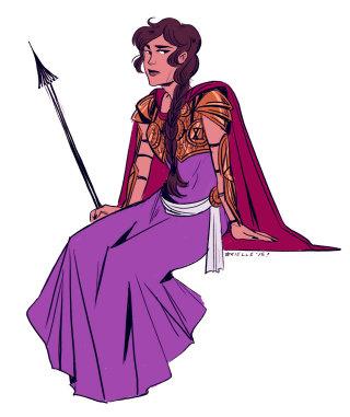 Illustration of a fashion lady