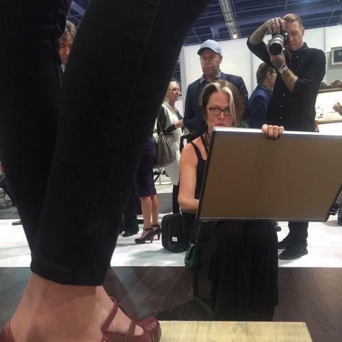 Live event drawing of beauty,Las Vegas Shoe Fair