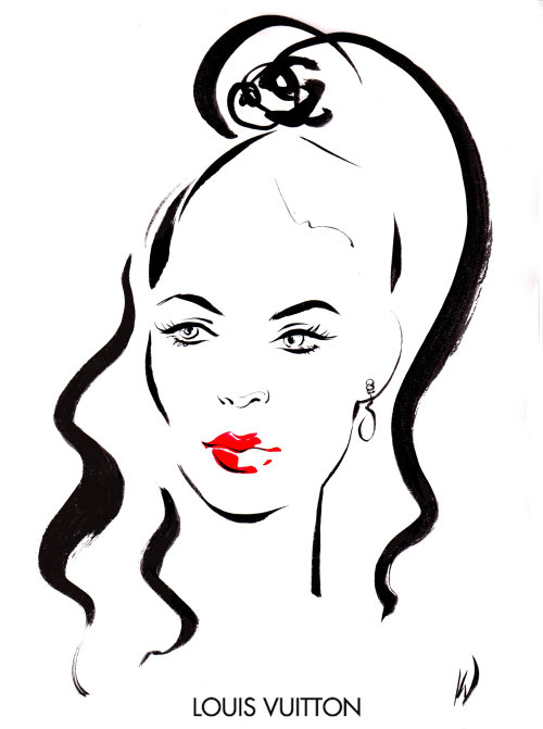 Live event drawing of fashion beauty