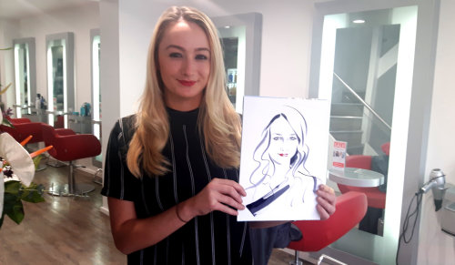 Beauty with her drawing
