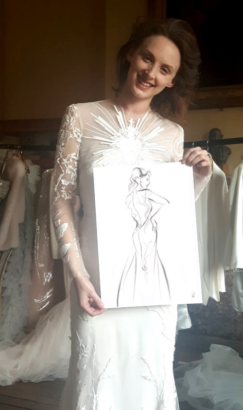 Live event drawing beauty with art