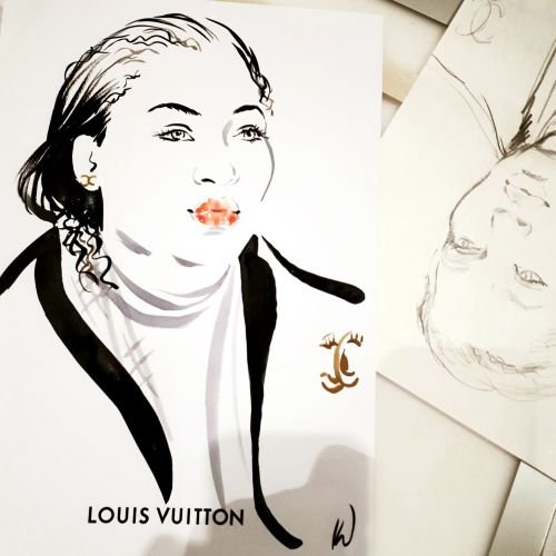 Katharine Asher Live Event Drawing Beleza Illustrator from UK