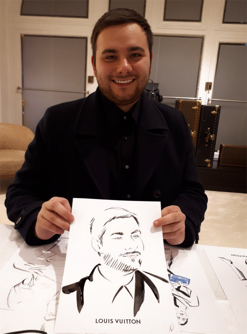 Beauty man with his painting