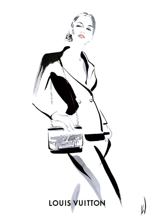 Live event drawing Louis Vuitton