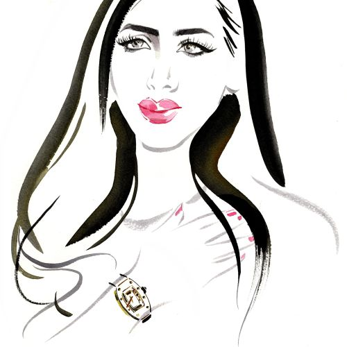Live event drawing of beauty, Luxury Watches in Mayfair