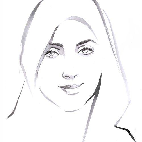 black and white woman portrait