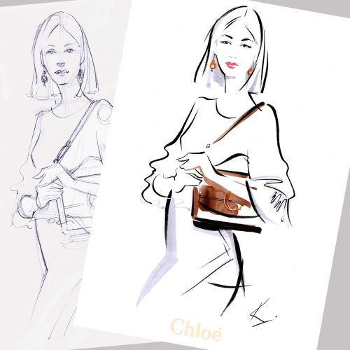 Katharine Asher Live Event Drawing Moda Illustrator from UK