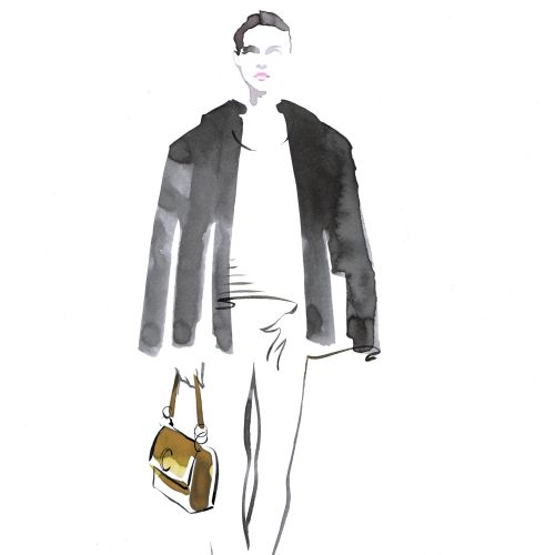 illustration of Chloe C-Bags@Selfridges for men