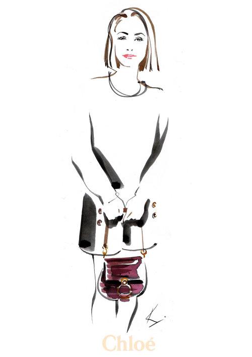 illustration of Chloe C-Bags@Selfridges