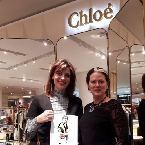 Chloe C-Bags - pose with bag of choice