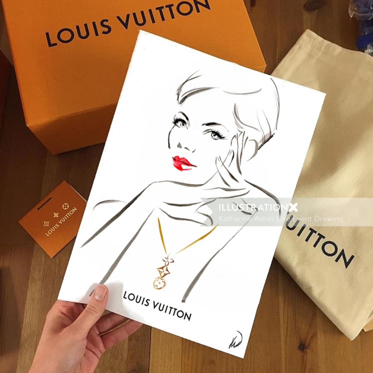 Louis Vuitton Live event drawing