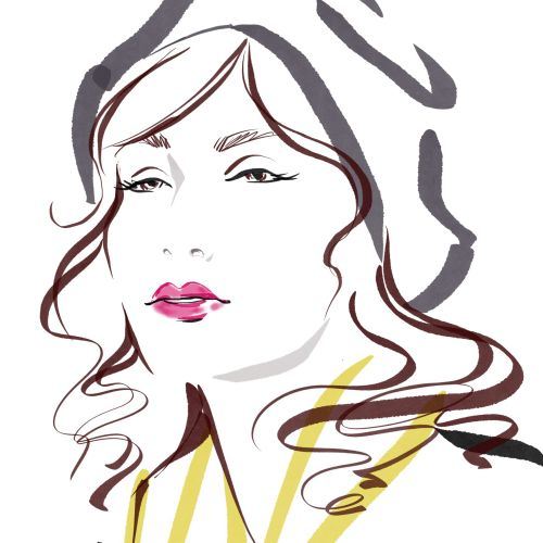 Katharine Asher Live Event Drawing Beauty Illustrator from UK