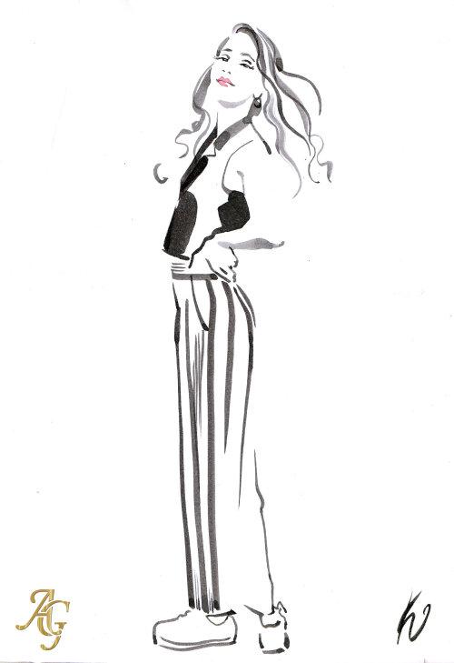 Hand drawn woman portrait