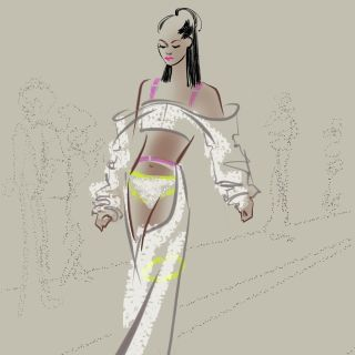 Katharine Asher Live Event Drawing Fashion
