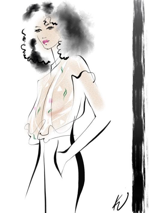 fashion woman in stylish costume