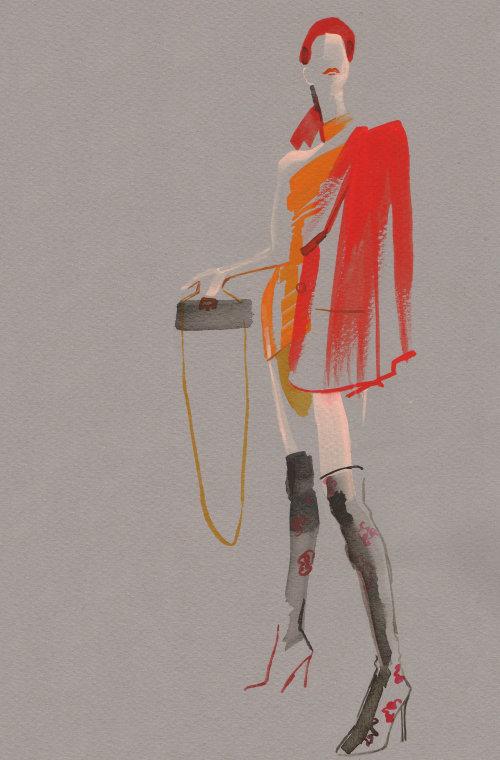 Dibujo de evento en vivo del modelo de pie