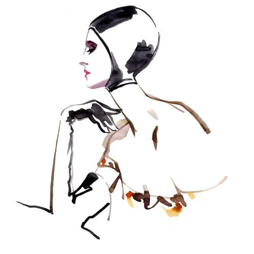 Katharine Asher Live Event Drawing Moda