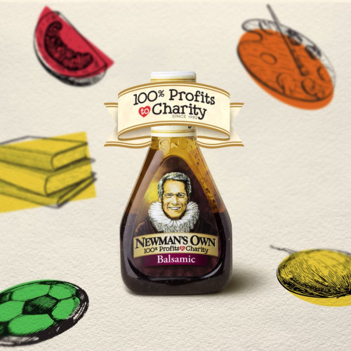 Packaging illustration of Newman's own Balsamic