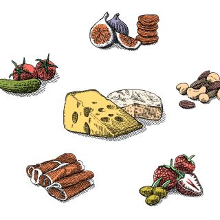 Drawing of Food icons