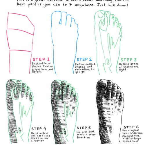 Graphic illustration of man foot
