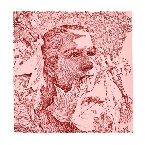 Beautiful girl sketch artwork