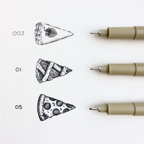 slice pick a pen & pie drawing