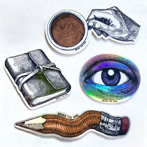 Holographic art of Journal stickers