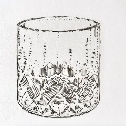 Dot work of glass cup