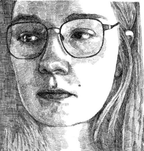 Arte do auto-retrato de August Lamm