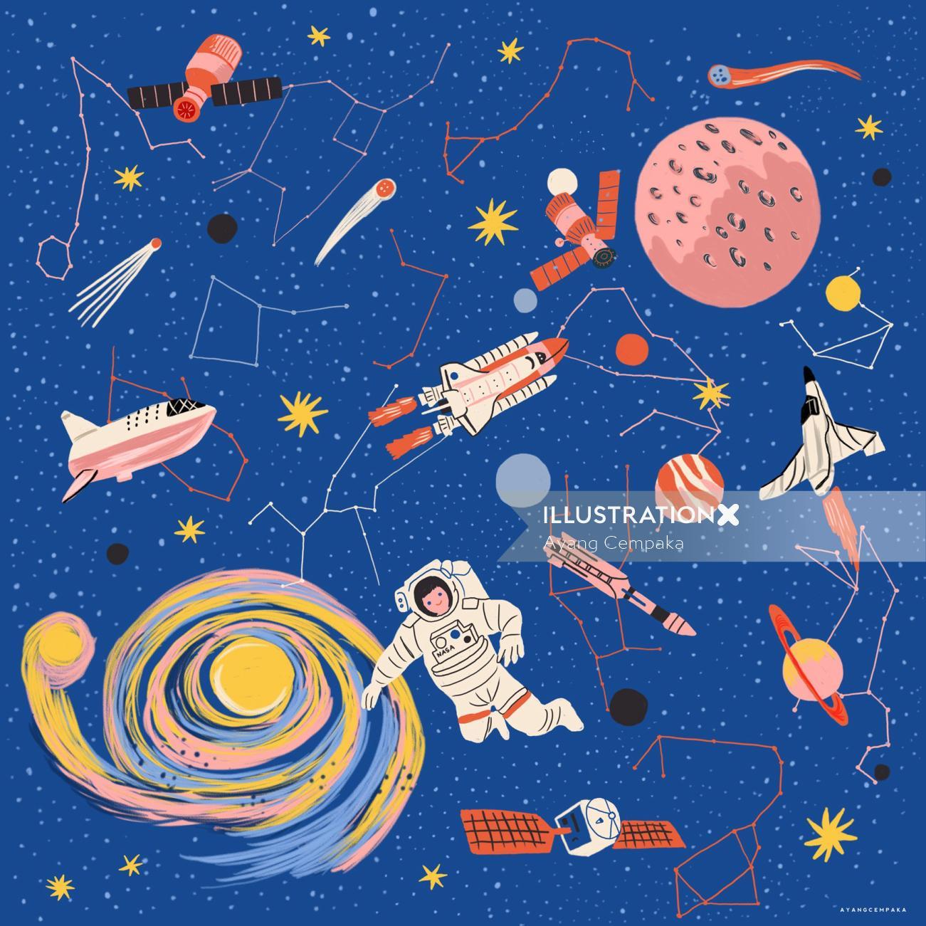 Children space theme