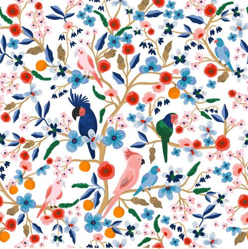 Animais pássaros na árvore