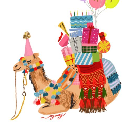 Animals decorated camel