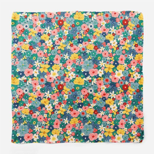 Colorful flowers gift wrapper