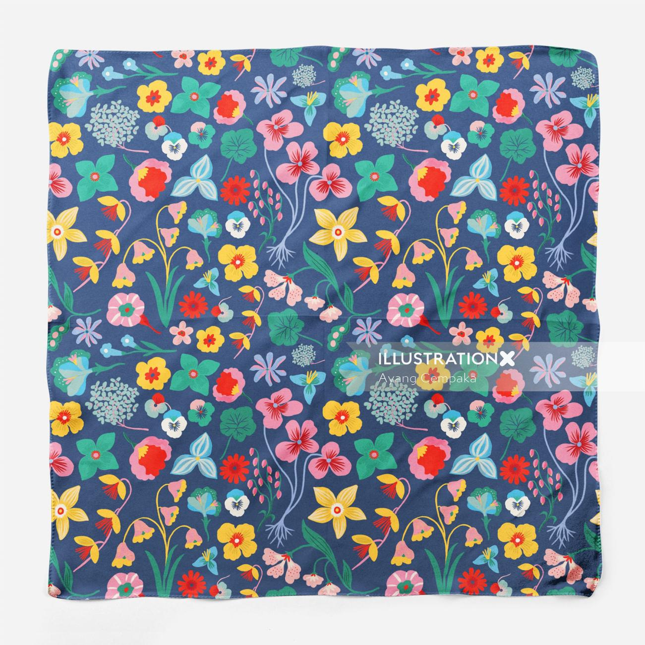 Floral gift wrapper