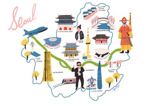 Seoul infographic