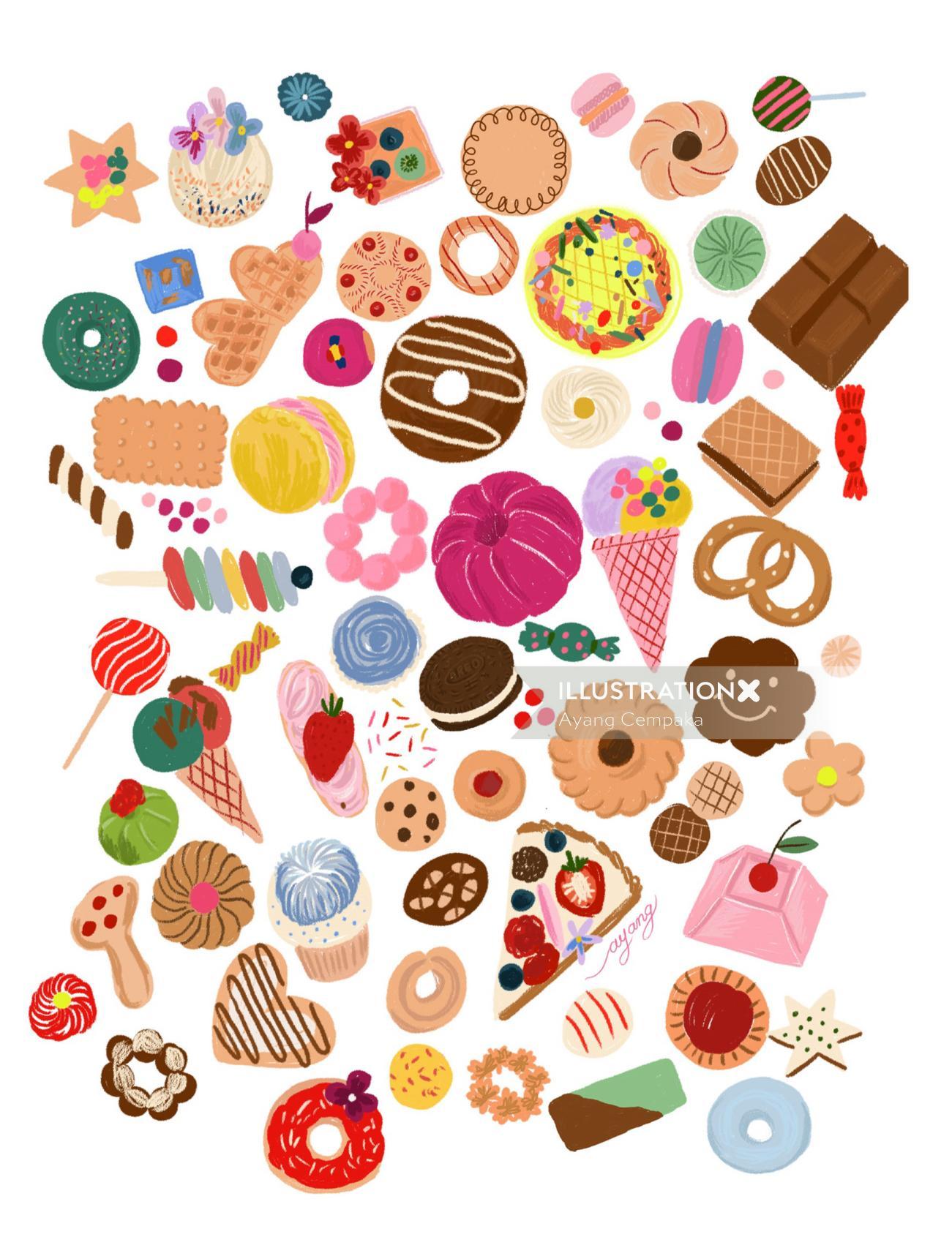Food & Drink various bakery foods