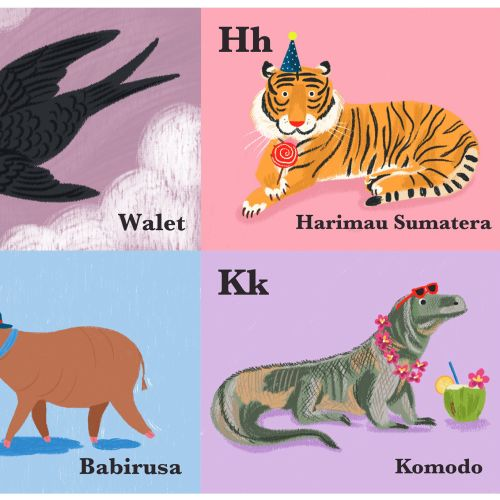 Graphic Animal icons with names