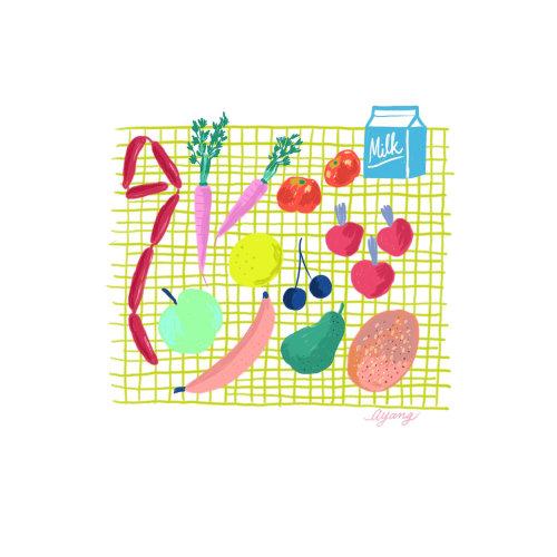 Alimentos e bebidas, vegetais, leite