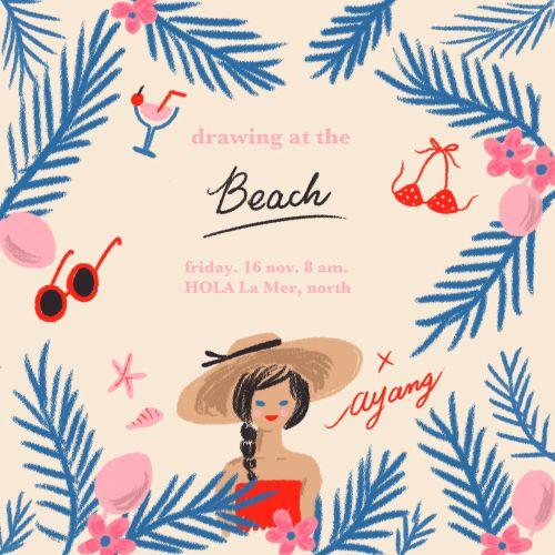 Graphic flyer beach