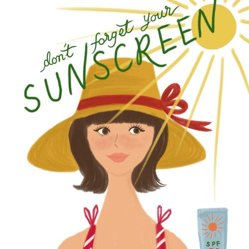 Beauty lifestyle sunscreen