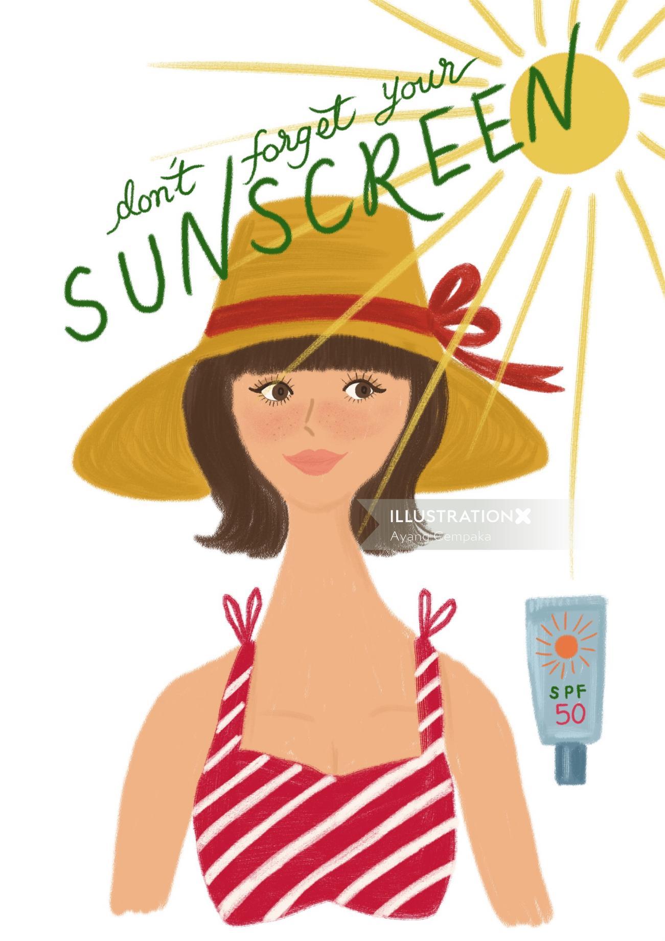 Beauty lifestyle sunscreen