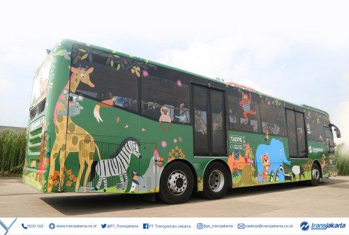 Gráfico de animais no ônibus