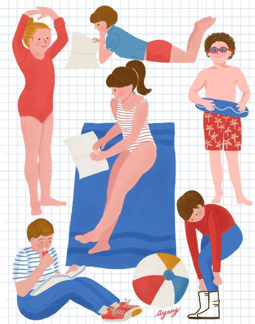 Roupa de praia com ilustração infantil